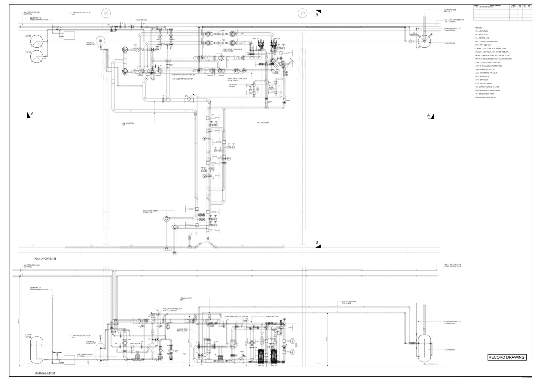Plantroom Pipe Work Layouts Sgbcad Design Ltd Piping Layout Drawings Previousnext